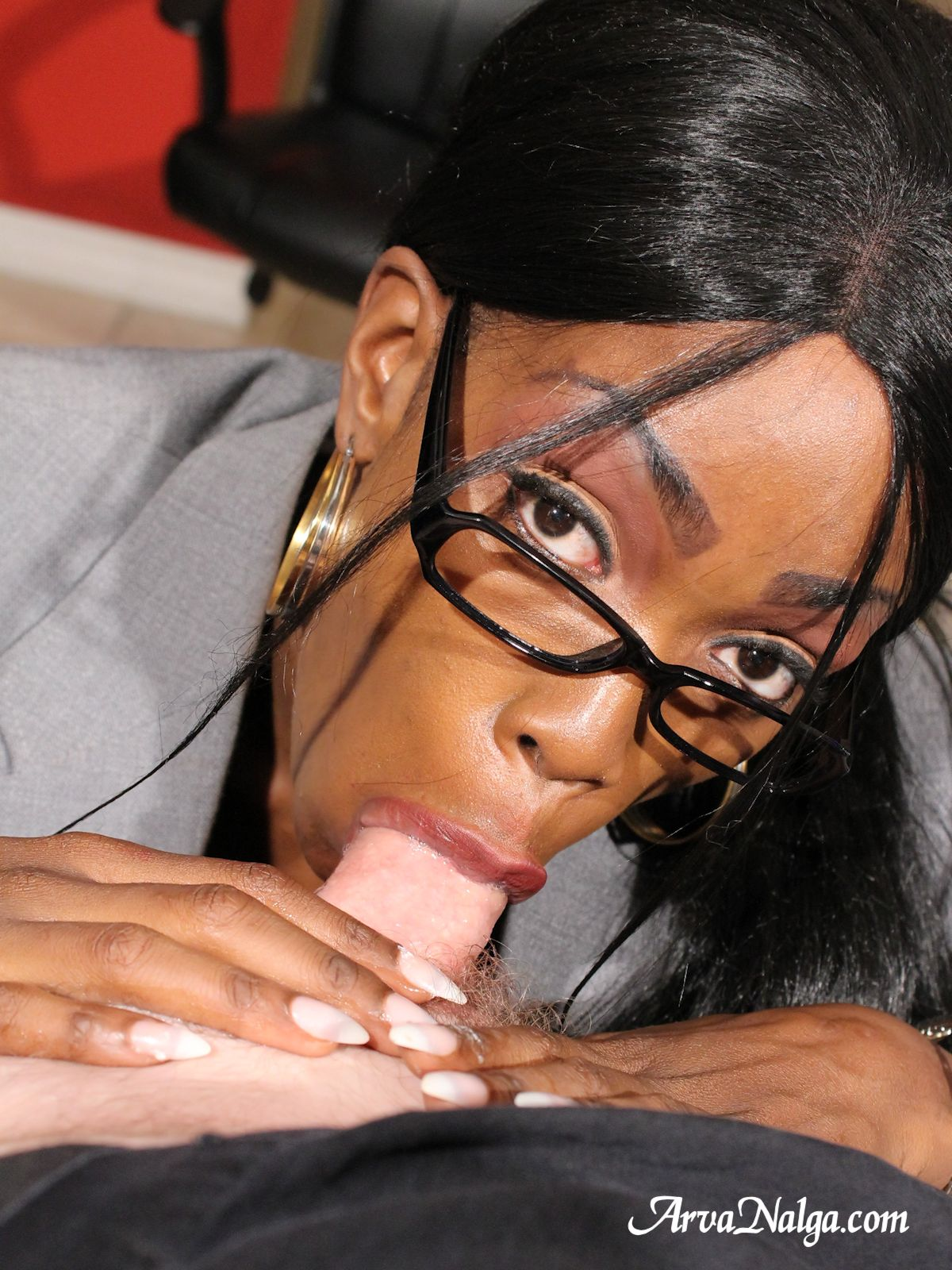 Ebony Milf Sucking Young Dick